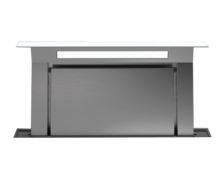 Белая worktop вытяжка FALMEC DOWNDRAFT GLASS WHITE 1200 мм со стеклом без мотора